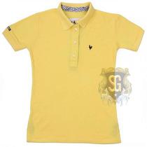 Camisa Polo Feminina Amarelo Coleçao Onça 6155 - Jaum Jaum
