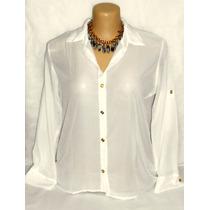 Camisa Feminina Mulet Chiffon Dudalinda