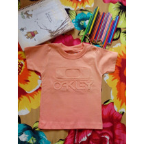 Camiseta Kids Infantil Oakley Degradê Bordada!