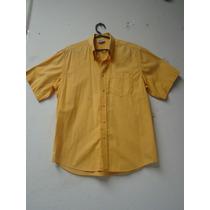 Camisa Social Masculina Listrada Basic M - Seminova