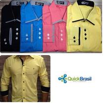 Kit Com 05 Camisa Social Slim - Preço Atacado - Parcelado