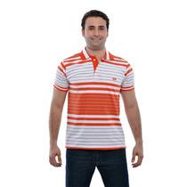 Camisa Polo Listrada 100% Algodão Pp P M G Gg Zambelê