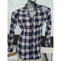 Camisa Quadriculada Xadrez Botões C/ Manga Comprida, Tam.42,