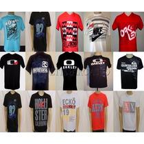 Kit C/10 Camisetas Hollister - Oakley - Quiksilver R$ 140,00