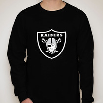 Camiseta Manga Longa Oakland Raiders - Camiseta Raiders