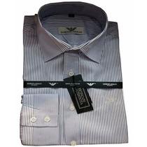 Camisa Social Giorgio Armani Cinza