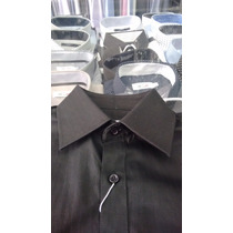 Camisa Social Masculina Punho Duplo Abotoadura