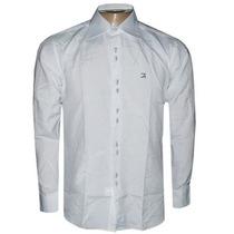 Camisa Slim Fit Luxo Ricardo Almeida Manga Longa Branca