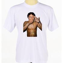 Camisa Blusa Estampada Banda Rap Lil Wayne Manga Curta