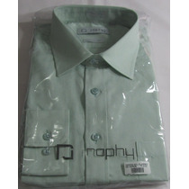 1 Camisa Raphy Ref.520032 Manga Longa , Tam. 5 ( 44) Verde.