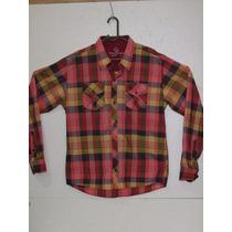 Camisa Country Xadrez Vermelho Masculina Manga Longa Algodão
