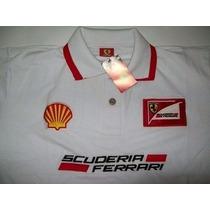 Camisa Polo Importada Ferrari Gola Dupla + Frete Grátis
