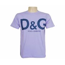 Camisa Dolce & Gabbana Roxa. Frete Grátis Para 10 Und