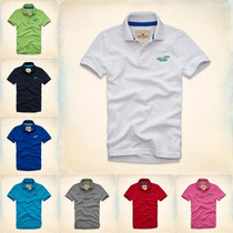 Kit 5 Camisa Camiseta Gola Polo Masculina Hollister Óriginal