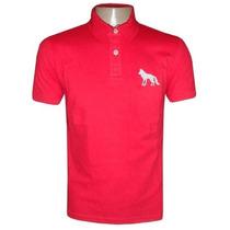 Camisa Acostamento Gola Polo Camiseta Vermelha