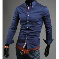 Camisa Masculina Social Slim Fit Importada Manga Longa