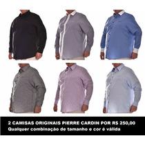 2 X Camisas Pierre Cardin Luxo Tamanho Grande G3, G4, G5, G6