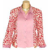 Camisa Feminina Manequim 50 Dudalinda Flor