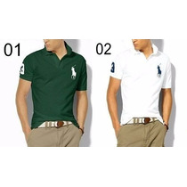 Kit 10 Camisas Polo Masculina Hollister Tommy Ralph Reserva