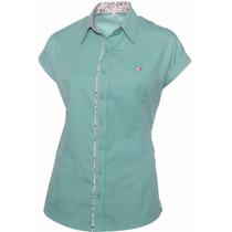 Camisa Feminina Manga Curta Talia - Pimenta Rosada
