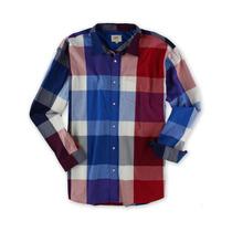 Ecko Unltd. Masculino Colorblock Botão Acima Camisa