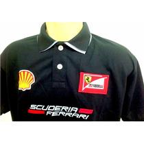 Camisa Camiseta Polo Ferrari Sem Juros