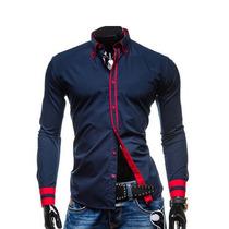 Camisa Masculina Slim Social Fit Luxo Importada