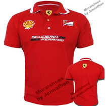Camisa Polo Ferrari Gola Dupla