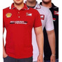 Kit 10 Camisetas Polo Ferrari Masculina Bordada