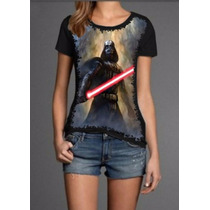 Blusas Femininas Darth Vader Baratas Personalizadas Malha Pv