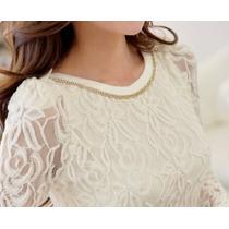 Blusa Branca Chiffon Catalogo 2016 Estilo Elegancia Luxo
