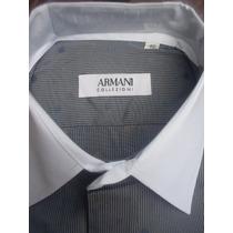 Camisas Sociais Armani Collezioni Gola E Punho Branco