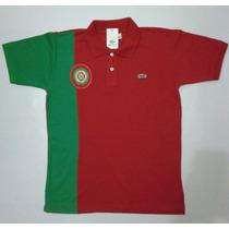 Camisa Polo Lacoste País Portugal Bordada