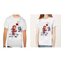 Camisa Homem De Ferro Iron Man Capitão America