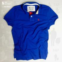 Camiseta Polo S&f 100% Original - 7 Cores - Slim Fit