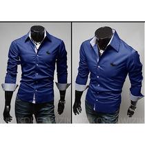 Camisa Social Abercrombie & Fitch De Luxo Slim Fit Importada
