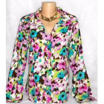Camisa Dudalinda Flor Estampada