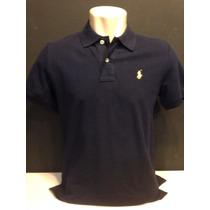 Camiseta Polo Ralph Lauren Azul Marinho Com Cavalo Tam Ggg