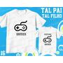 Camiseta Futuro Gamer Tal Pai Tal Filho(a) Kit Com 2 Uni