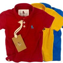 Kit 3 Polo Infantil Camisas, Qualid. Importada Original
