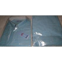 Camisa Manga Longa Tecido 100% Algodão Tam P M G Gg Ex