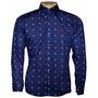 Camisa Social Masculina Sergio K Ancora Azul Marinho