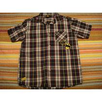 Camisa Blusa Blusao Batman Quadriculado Xadrez Tam. 10 Anos