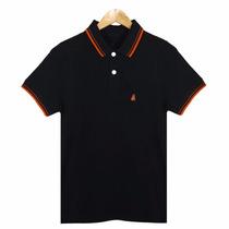 Camisa Polo Preta Bordada