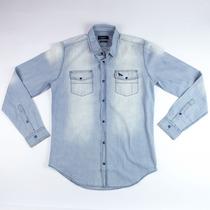 Camisa Jeans Acostamento Masculina 69101036