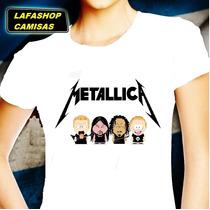 Camisa Metallica South Park Camiseta Baby Look Feminina Moca