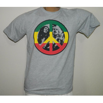 Camisa Reggae Algodão Sunlight Bob Marley Paz E Amor
