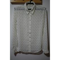 Camisa Fem M. Officer - Off-white C/ Estampa Cruzes