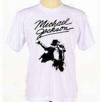 Camisa Camiseta Estampada Michael Jackson Rock Pop Adulto