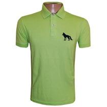 Camisa Acostamento Gola Polo Camiseta Verde